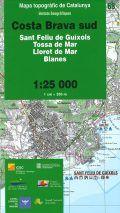68 COSTA BRAVA SUD 1:25.000  -UNITATS GEOGRAFIQUES -ICC