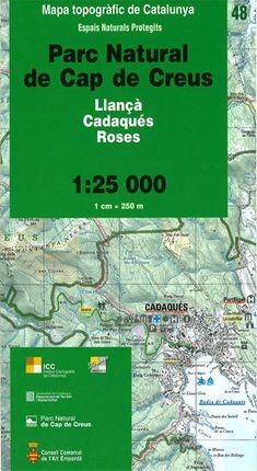 48 CAP DE CREUS 1:25.000 PARC NATURAL -ESPAIS NATURALS PROTEGITS -ICC