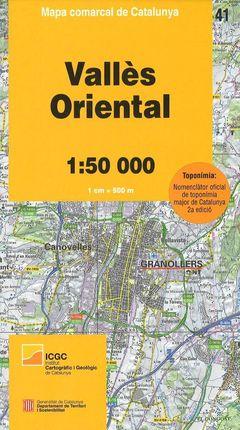 41 VALLÈS ORIENTAL 1:50.000 -MAPA COMARCAL DE CATALUNYA -ICGC