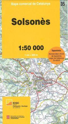 35 SOLSONÈS 1:50.000 -MAPA COMARCAL CATALUNYA -ICGC