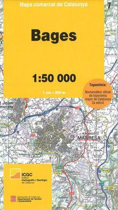 07 BAGES 1:50.000 -MAPA COMARCAL DE CATALUNYA -ICGC