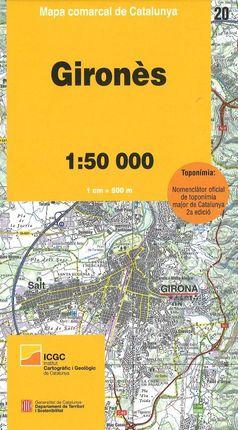 20 GIRONÈS 1:50.000 -MAPA COMARCAL CATALUNYA -ICGC