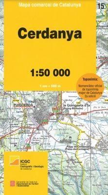 15 CERDANYA 1:50.000 -MAPA COMARCAL CATALUNYA -ICGC