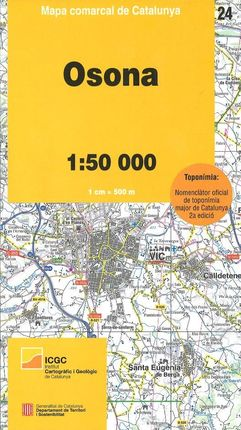 24 OSONA 1:50.000 -MAPA COMARCAL DE CATALUNYA -ICGC