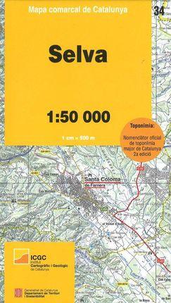 34 SELVA 1:50.000 -MAPA COMARCAL DE CATALUNYA -ICGC