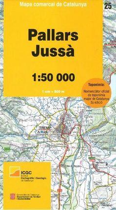 25 PALLARS JUSSÀ 1:50.000- MAPA COMARCAL DE CATALUNYA -ICGC