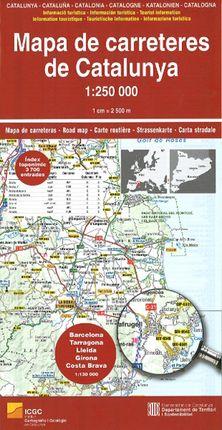 MAPA CARRETERES DE CATALUNYA [PLEGAT] 1:250.000 -ICGC