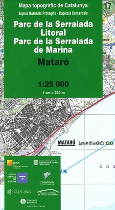 17 PARC DE LA SERRALADA LITORAL - PARC DE LA SERRALADA DE MARINA 1:25.000 -ICGC