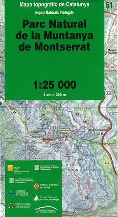 51 PN DE LA MUNTANYA DE MONTSERRAT 1:25.000 -ICGC