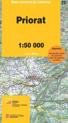 29 PRIORAT 1:50.000 -MAPA COMARCAL CATALUNYA -ICGC