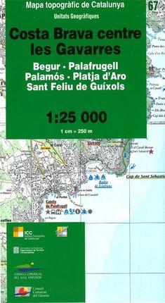 67 COSTA BRAVA CENTRE LES GAVARRES 1:25.000 -ICGC