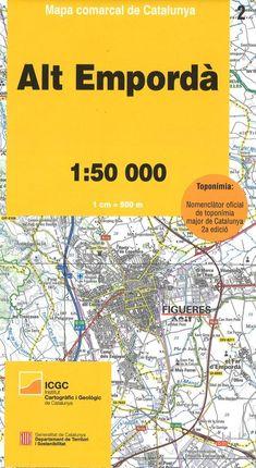 02 ALT EMPORDÀ 1:50.000 -MAPA COMARCAL CATALUNYA -ICGC