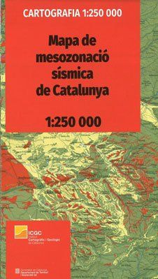 MAPA DE MESOZONACIÓ SÍSMICA DE CATALUNYA [PLEGAT] 1:250.000 -ICGC