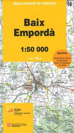 10 BAIX EMPORDÀ 1:50.000 -MAPA COMARCAL CATALUNYA -ICGC