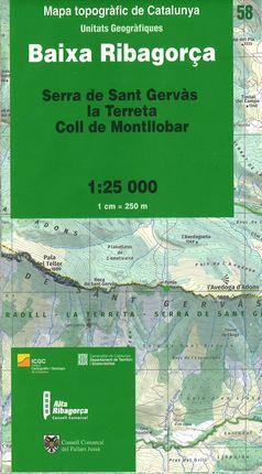 58 BAIXA RIBAGORÇA 1:25.000 -ICGC