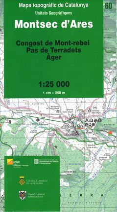 60 MONTSEC D'ARES 1:25.000  -ICGC
