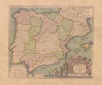 CARTE GENERALE DES ROYAUMES D'ESPAGNE [MURAL] -CNIG