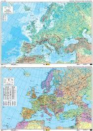 EUROPA [2 CARAS] MAPA POLITICO / FISICO [PLASTIFICAT] 1:5.000.000 -CNIG