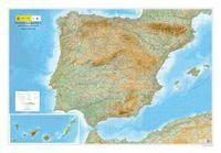 MAPA RELIEVE PENÍNSULA IBÉRICA, BALEARES Y CANARIA