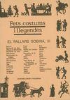 PALLARS SOBIRA, III. FETS, COSTUMS I LLEGENDAS