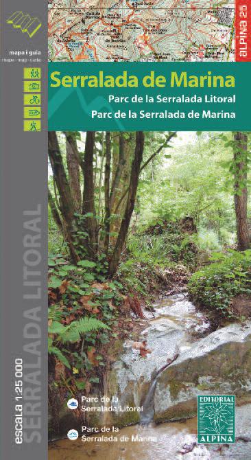 SERRALADA DE MARINA 1:25.000 -ALPINA