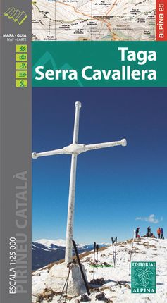 TAGA - SERRA CAVALLERA 1:25.000 -ALPINA