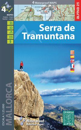 SERRA DE TRAMUNTANA [CARPETA 4 MAPES] 1:25.000 -ALPINA