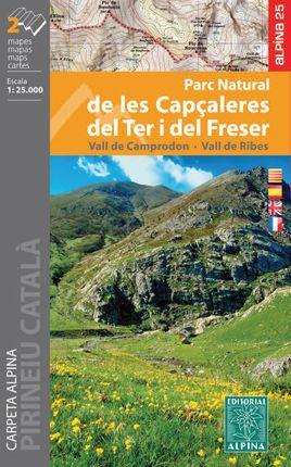 P. N. CAPÇALERES DEL TER I DEL FRESER 1:25.000 [CARPETA 2 MAPES] [CAT-CAS-ENG-FRA] -ALPINA