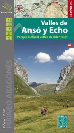 VALLES DE ANSÓ Y ECHO 1:25.000 -ALPINA