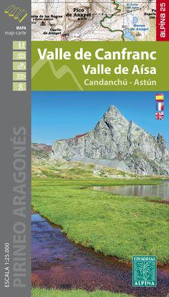 VALLE DE CANFRANC [MAPA] 1:25.000 VALLE DE AÍSA -ALPINA [CAS-FRA-ENG]