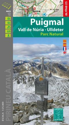 PUIGMAL 1:25.000 VALL DE NURIA ULLDETER -ALPINA