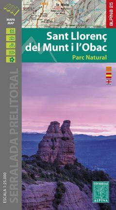 SANT LLORENÇ DEL MUNT I L'OBAC 1:25,000 -ALPINA