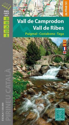 VALL DE CAMPRODON VALL DE RIBES 1:50.000 -ALPINA