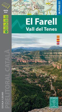 EL FARELL - VALL DEL TENES MAPA 1:20.000 -ALPINA