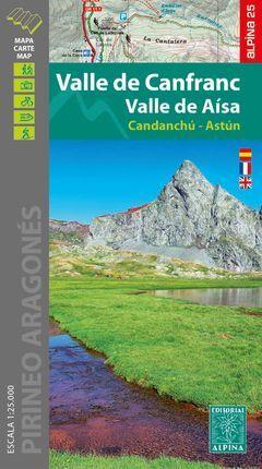 VALLE DE CANFRANC VALLE DE AISA 1:25.000 -ALPINA