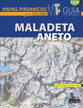 MALADETA - ANETO 1:25.000 -MAPAS PIRENAICOS -SUA