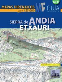 ANDIA ETXAURI 1:25.000, SIERRA DE -MAPAS PIRENAICOS -SUA