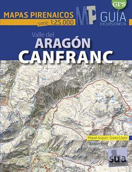 CANFRANC VALLE DEL ARAGON 1:25.000 -MAPAS PIRENAICOS SUA