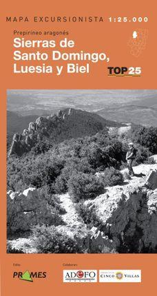 SIERRAS DE SANTO DOMINGO LUESIA Y BIEL 1:25.000 -PRAMES TOP25