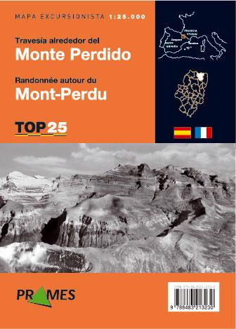 TRAVESIA ALREDEDOR DEL MONTE PERDIDO 1:25.000 -PRAMES TOP 25