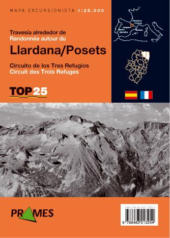 TRAVESÍA ALREDEDOR DE LLARDANA - POSETS 1:25.000 -TOP 25 TRAVESÍAS -PRAMES