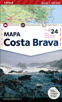 COSTA BRAVA (CAT) 1:100.000 -TRIANGLE POSTALS