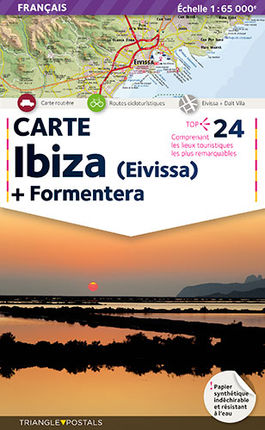 IBIZA 1:65.000 [FRA] CARTE EIVISSA + FORMENTERA -TRIANGLE