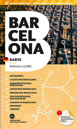 BARCELONA. KARTE [DEU] 1:12.000 -TRIANGLE POSTALS