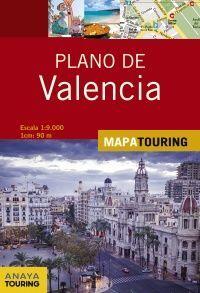 VALENCIA, PLANO 1:9.000 -MAPA ANAYA TOURING