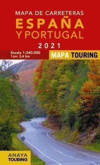 2021 MAPA DE CARRETERAS DE ESPAÑA Y PORTUGAL [1:340.000] -MAPA TOURING ANAYA