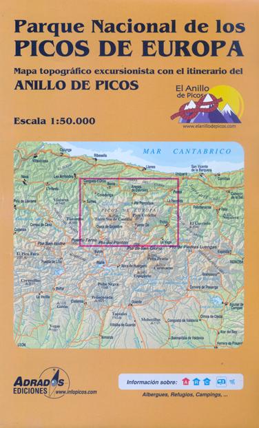 P27 ANILLO DE PICOS 1:50.000 MAPA-GUIA-ADRADOS