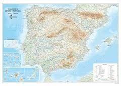 ESPAÑA Y PORTUGAL 1:1.500.000 [FÍSICO MURAL PLASTIFICADO] -RUGOMA