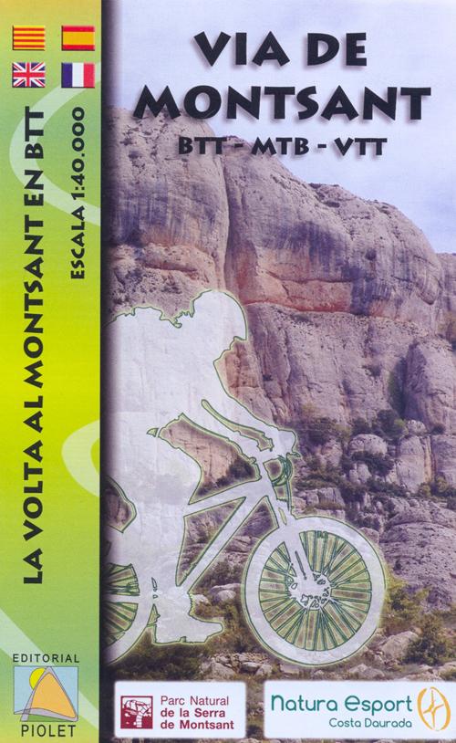 VIA DE MONTSANT 1:40.000 -BTT -MTB -VTT -PIOLET