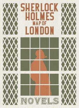 SHERLOCK HOLMES [MAPA-CAS] MAP OF LONDON. NOVELS